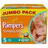 Pack 352 Couches Pampers Simply Dry sur couches zone